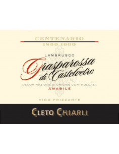 € 5,99 Centenario Grasparossa amabile - Chiarli (x6 bott.)