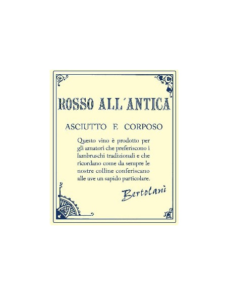 € 6.50 (x6) Rosso All'Antica Lambrusco - Bertolani